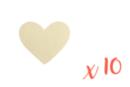 Coeur en bois naturel - Lot de 10 - Motifs bruts 13823 - 10doigts.fr
