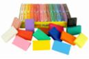 Pâtes à modeler 15 couleurs vives - 30 pains de 50 gr - Pâtes à modeler non durcissantes à l'air  02805 - 10doigts.fr