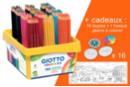 Crayons Giotto Colors 3.0 - Classpack de 192 crayons  + CADEAU d'une Fresque géante + 16 toupies à colorier - Crayons de couleurs 33156 - 10doigts.fr