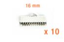 Embouts serre-fils argent 16 mm - Lot de 10 - Cache-noeud 11579 - 10doigts.fr