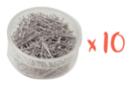 Épingles tête ronde - 10 boîtes de 600 pièces - Kirigami 08378 - 10doigts.fr