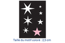 Pochoir adhésif 10 x 7 cm - étoiles - Pochoirs Adhésifs 13508 - 10doigts.fr