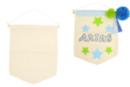 Fanion en coton - Support textile à customiser - 10doigts.fr