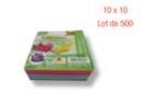Feuilles carrées 10 x 10 cm - Lot de 500 - Papiers Origami 01705 - 10doigts.fr