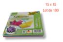 Feuilles carrées 15 x 15 cm - Lot de 100 - Papiers Origami - 10doigts.fr