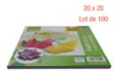 Feuilles carrées 20 x 20 cm - Lot de 100 - Papiers Origami - 10doigts.fr