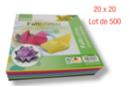 Feuilles carrées 20 x 20 cm - Lot de 500 - Papiers Origami 01707 - 10doigts.fr
