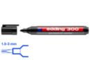 Marqueur permanent noir - Pointe large ogive 3 mm - Feutres et marqueurs permanents - 10doigts.fr