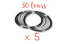 Fil mémoire 30 tours - Ø 6 cm - Lot de 5 - Bracelets 13135 - 10doigts.fr