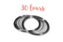Fil mémoire 30 tours Ø 6 cm - Bracelets 01291 - 10doigts.fr