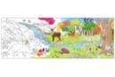 Fresque géante à colorier : La forêt  - Supports pré-dessinés 38000 - 10doigts.fr