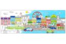 Fresque géante à colorier : La ville - Supports pré-dessinés 38002 - 10doigts.fr