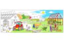 Fresque géante à colorier : La Ferme - Supports pré-dessinés 38004 - 10doigts.fr