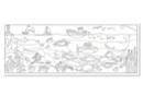 Fresque géante à colorier : La mer - Supports pré-dessinés 19400 - 10doigts.fr