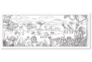 Fresque géante à colorier : Savane Africaine - Supports pré-dessinés 18800 - 10doigts.fr