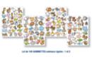 Gommettes animaux rigolos thèmes 1 et 2 - 2 sets (4 planches) - Gommettes Animaux 18497 - 10doigts.fr