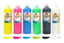 Gouache 1 Litre, couleurs basiques - 6 couleurs - Peinture Gouache 10 DOIGTS 31115 - 10doigts.fr