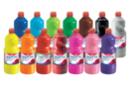 Gouache GIOTTO 1 litre - Set des 14 flacons assorties  - Peinture gouache liquide 40106 - 10doigts.fr