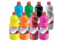 Gouache GIOTTO 1 litre - Set des 8 flacons assorties  - Peinture gouache liquide 40104 - 10doigts.fr