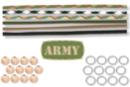 """Kit porte-clés bonhomme en paracorde """"ARMY """"- 12 réalisations - Cordes Paracorde 16865 - 10doigts.fr"""