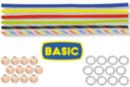 """Kit porte-clés bonhomme en paracorde """"BASIC """"- 12 réalisations - Cordes Paracorde 16862 - 10doigts.fr"""