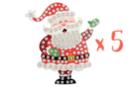 Suspension Père Noël avec mosaïques - Lot de 5 - Activités de Noël en kit 27909 - 10doigts.fr
