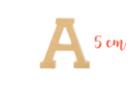 Lettre en bois médium : A - Motifs bruts - 10doigts.fr