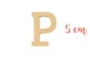 Lettre en bois médium : P - Motifs bruts - 10doigts.fr