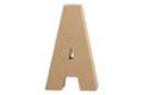 Lettre en carton papier mâché : A  - Lettres et Formes 27700 - 10doigts.fr