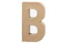Lettre en carton papier mâché : B  - Lettres et Formes 27701 - 10doigts.fr