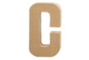 Lettre en carton papier mâché : C  - Lettres et Formes 27702 - 10doigts.fr