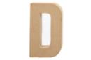 Lettre en carton papier mâché : D - Lettres et Formes 27703 - 10doigts.fr