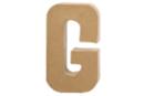 Lettre en carton papier mâché : G - Lettres et Formes 27706 - 10doigts.fr