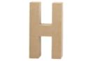 Lettre en carton papier mâché : H - Lettres et Formes 27707 - 10doigts.fr
