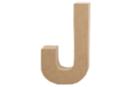 Lettre en carton papier mâché : J - Lettres et Formes 27709 - 10doigts.fr