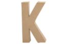 Lettre en carton papier mâché : K - Lettres et Formes 27710 - 10doigts.fr