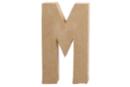 Lettre en carton papier mâché : M - Lettres et Formes 27712 - 10doigts.fr