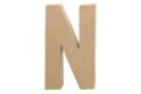 Lettre en carton papier mâché : N - Lettres et Formes 27713 - 10doigts.fr