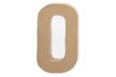 Lettre en carton papier mâché : O - Lettres et Formes 27714 - 10doigts.fr