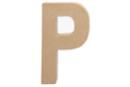 Lettre en carton papier mâché : P - Lettres et Formes 27715 - 10doigts.fr