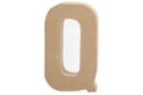 Lettre en carton papier mâché : Q - Lettres et Formes 27716 - 10doigts.fr