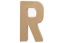 Lettre en carton papier mâché : R - Lettres et Formes 27717 - 10doigts.fr
