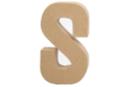 Lettre en carton papier mâché : S - Lettres et Formes 27718 - 10doigts.fr