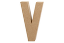 Lettre en carton papier mâché : V - Lettres et Formes 27721 - 10doigts.fr