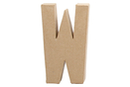 Lettre en carton papier mâché : W - Lettres et Formes 27722 - 10doigts.fr