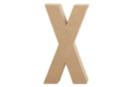 Lettre en carton papier mâché : X - Lettres et Formes 27723 - 10doigts.fr