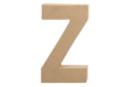 Lettre en carton papier mâché : Z - Lettres et Formes 27725 - 10doigts.fr