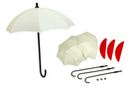 Lot de 3 parapluies porte-clés à décorer - Plastique Opaque - 10doigts.fr
