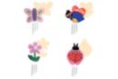 Kit carillons  - 4 formes assorties : papillon, abeille, coccinelle, fleur - Carillons et Mobiles - 10doigts.fr