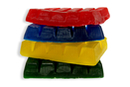 Savons couleurs assorties - Lot de 4 plaquettes de 250 gr - Savons, colorants, senteurs 03989 - 10doigts.fr
